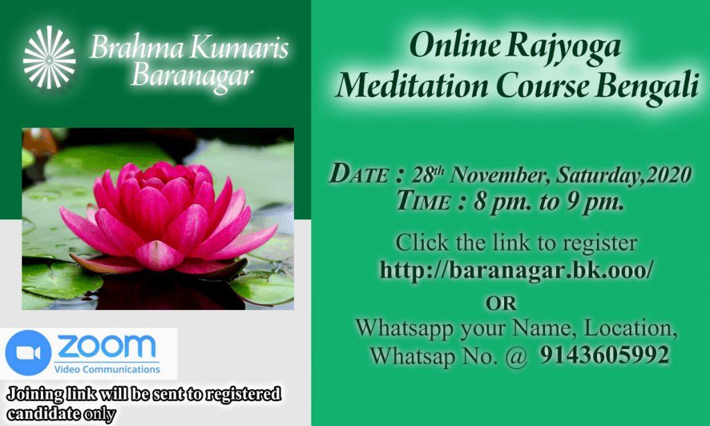 Upcoming Free Online Rajyoga Meditation Course